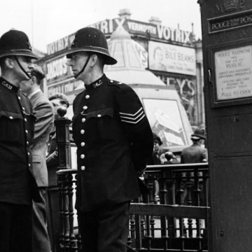 Image: File photo of London bobbies