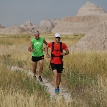 Image: Bill Sycalik and local runner and longtime marathoner Jerry Dunn