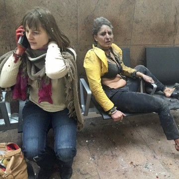 Image: Aftermath of attack on Brussels airport