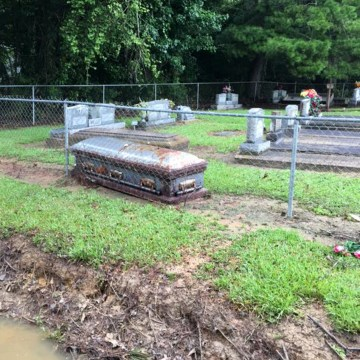 Image: Livingston Parish unearthed graves