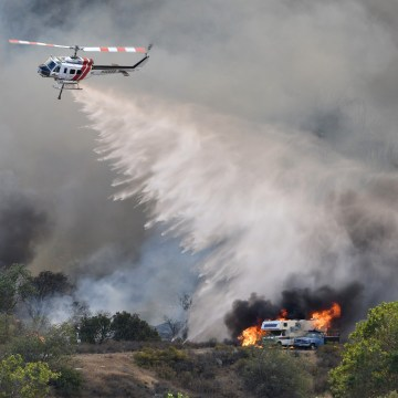 Image: Blue Cut wildfire