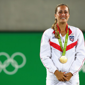 Gold Medalist Monica Puig of Puerto Rico