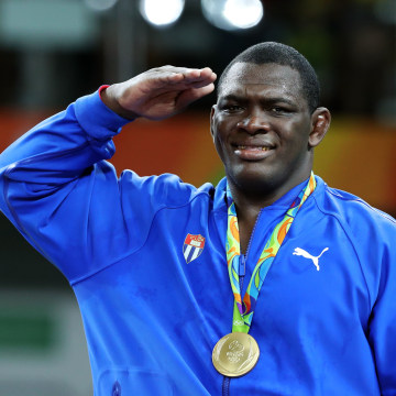 Mijain Lopez Nunez of Cuba Wins Gold - Wrestling - Rio 2016 Olympic Games