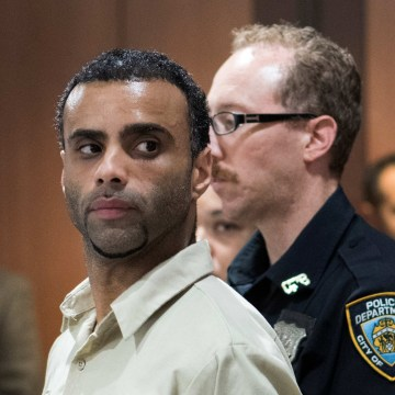 Image: Morel appears for an arraignment at the Queens Criminal Court for his alleged involvement in the murder of Imam Akonjee and Uddin in Queens New York