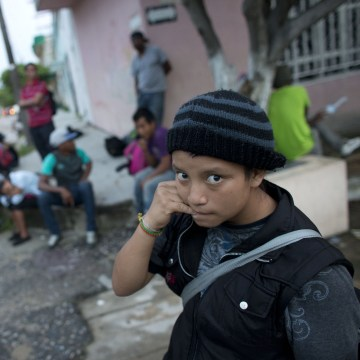 A 14-year-old Guatemalan girl traveling alone to the U.S through Mexico.