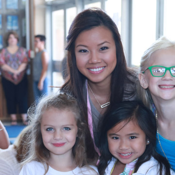 As Miss Louisiana 2016, Justine Ker mentored princesses from the Fleur De Lis Princess Program.