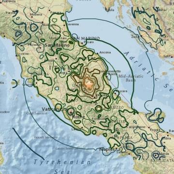 IMAGE: Italy quake map