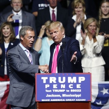 Image: Donald Trump, Nigel Farage