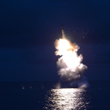 Image: Purported launch of North Korean missile