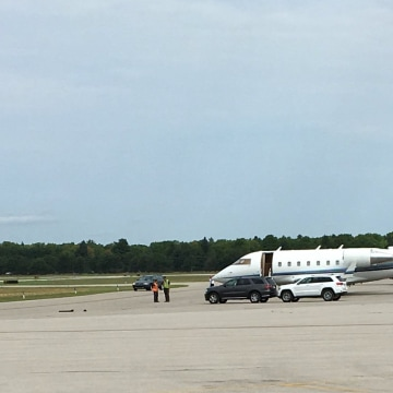Image: A co-pilot suspected of being drunk was arrested at Traverse City airport.