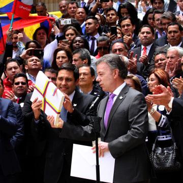 Juan Manuel Santos, Mauricio Lizcano