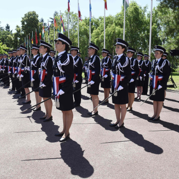 Image: Ceremony at France's National Police College on June 24, 2016