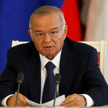 Image: Uzbekistan's President Karimov