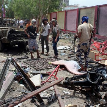 Image: The scene of the bombing in Aden