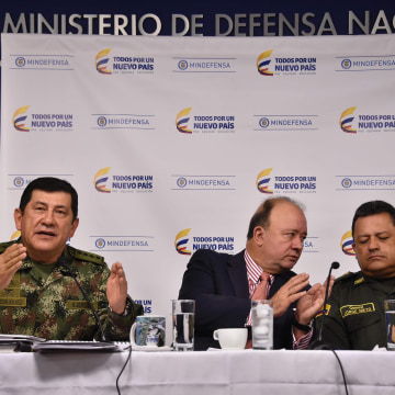 Press conference to talk about the full ceasefire between the FARC and the Colombian government.