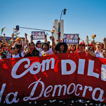 Image: Rousseff Supporters in Brasilia