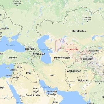 Image: Uzbekistan map