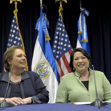 US ambassador to El Salvador Mari Carmen