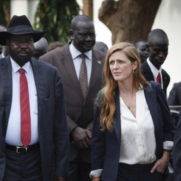Image: Samantha Power and Salva Kiir