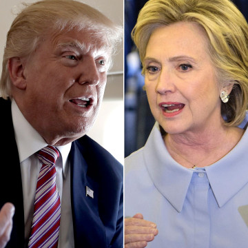 Image: Trump and Clinton