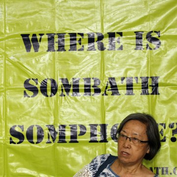 Image: Human Right group press conference over disappeared Lao acitivist Sombath Somphone