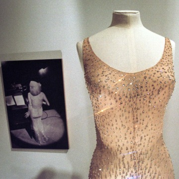 The dress Marilyn Monroe wore during her famous birthday tribute to President John F. Kennedy