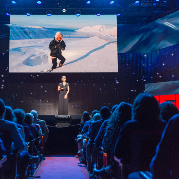 Zaria Forman speaks at TED Talks Live -- Science and Wonder, November 5-6, 2015, The Town Hall, New York, NY.