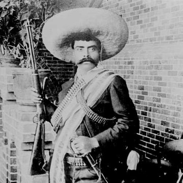 Photo shows Emiliano Zapata Salazar (1879-1919), leader of the Mexican Revolution (1910-1920).