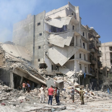Image: August attack on Aleppo neighborhood