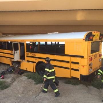 IMAGE: Denver airport school bus crash