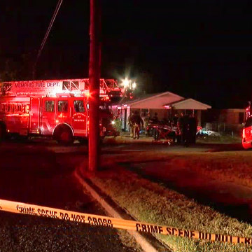 Image: Fire trucks at the scene of the fire