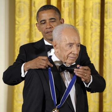 Image: Barack Obama, Shimon Peres