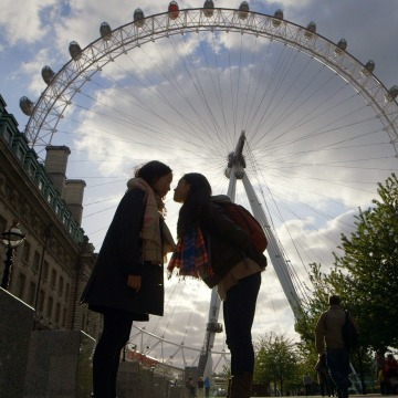 Sam Futerman & Anais Bordier in front of the London Eye, May 2013