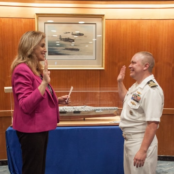 In A First Openly Transgender Service Member Promoted