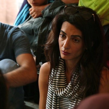 IMAGE: Amal Clooney in northern Greece