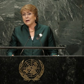 Image: President Michelle Bachelet of Chile addresses the 71st United Nations General Assembly in Manhattan