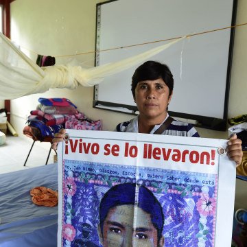 Maria Elena Guerrero, mother of missing student Giovanni Galindes
