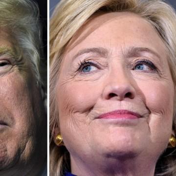 Image: US-VOTE-POLL-TRUMP-CLINTON
