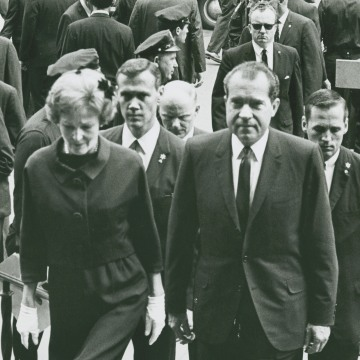 Image: President Richard Nixon and First Lady Patricia Nixon
