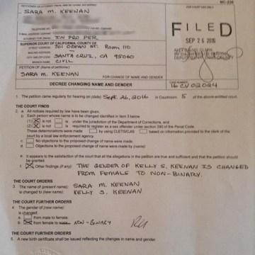 Image: Sara Kelly Keenan Court Order