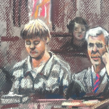 IMAGE: Dylann Roof in court