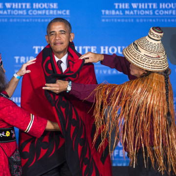 Image: Obama Speaks at Tribal Conference in DC