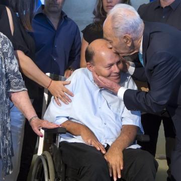 IMAGE: Surin Hershko and Shimon Peres