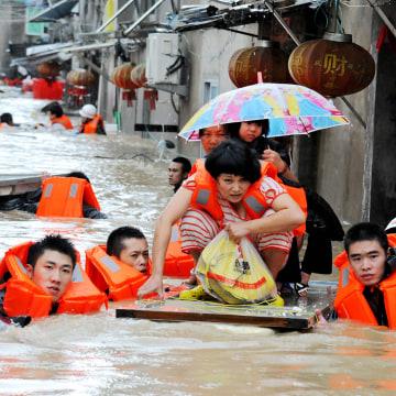 Image: TOPSHOT-CHINA-WEATHER-TYPHOON