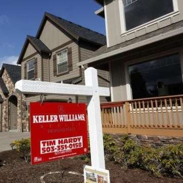 Homes are seen for sale in the northwest area of Portland