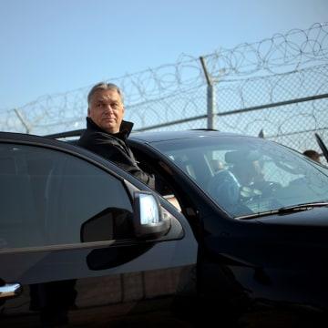 Image: Viktor Orban at the Bulgaria-Turkey border