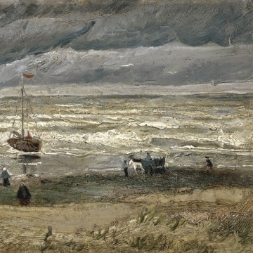 Image: View of the Sea at Scheveningen, painted by Vincent van Gogh in 1882