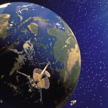 Image: Galileo & Magellan Satellites And Planet Earth
