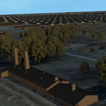 Image: A 3-D model of the former Auschwitz-Birkenau death camp