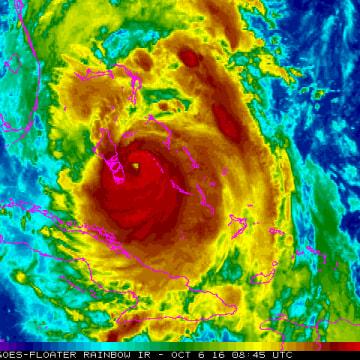 Image: Hurricane Matthew, 8.45 UTC, Oct. 6, 2016